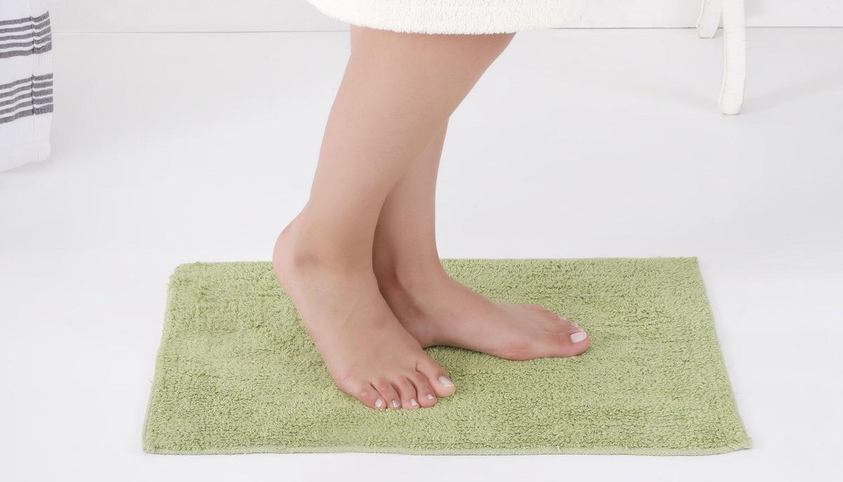 Коврик для ванной Modalin Flet, цвет: зеленый, 40 x 60 см