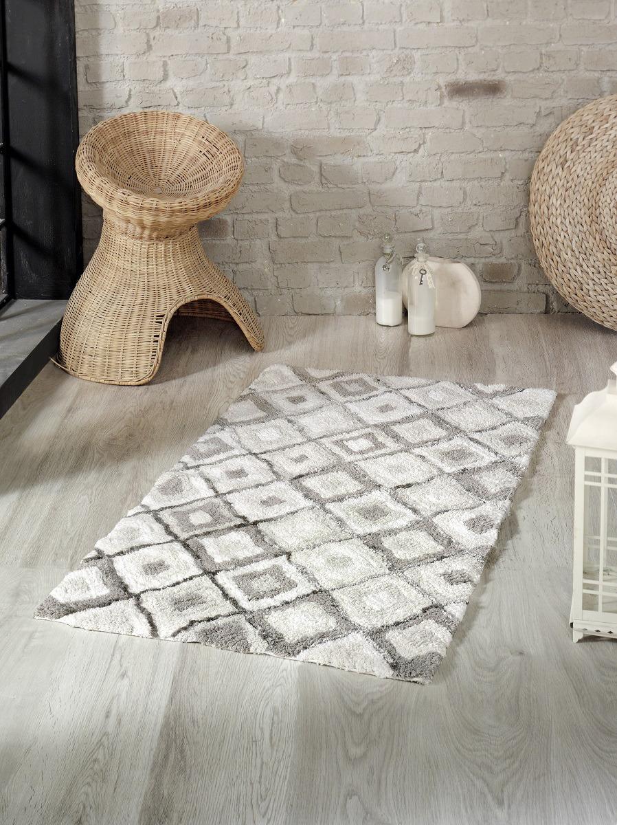 Коврик для ванной Modalin Erak, цвет: серый, 70 x 120 см