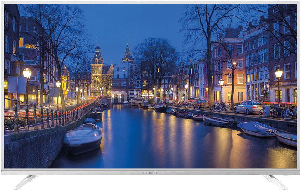 Телевизор HYUNDAI H-LED40F401WS2 40, белый телевизор led lg 32 32lv300c черный full hd 60hz dvb t2 dvb c dvb s2 usb rus