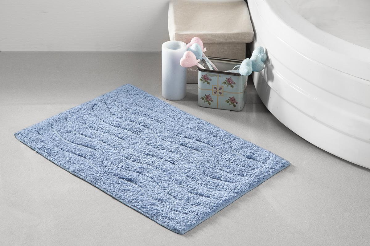 Коврик для ванной Modalin Aren, цвет: голубой, 40 x 60 см