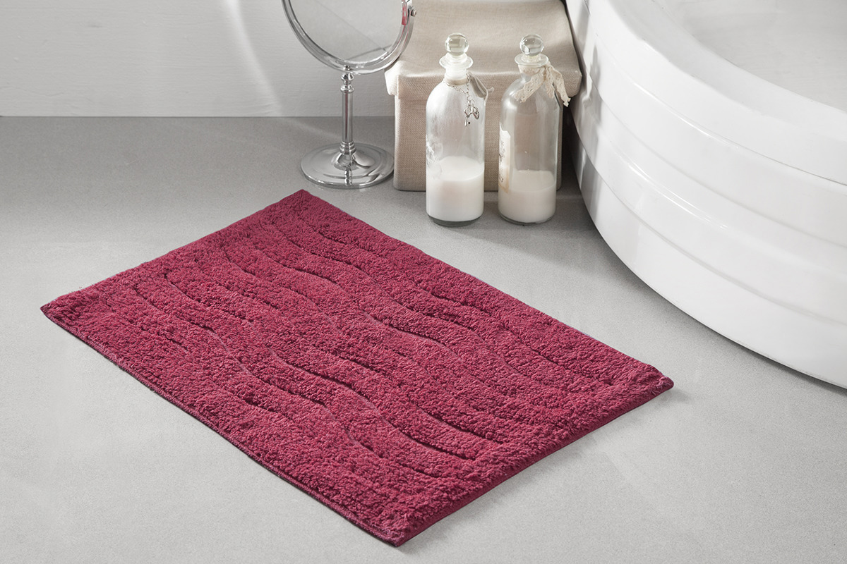 Коврик для ванной Modalin Aren, цвет: бордовый, 40 x 60 см