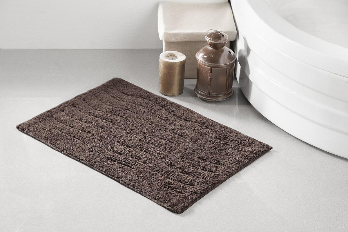 Коврик для ванной Modalin Aren, цвет: коричневый, 40 x 60 см