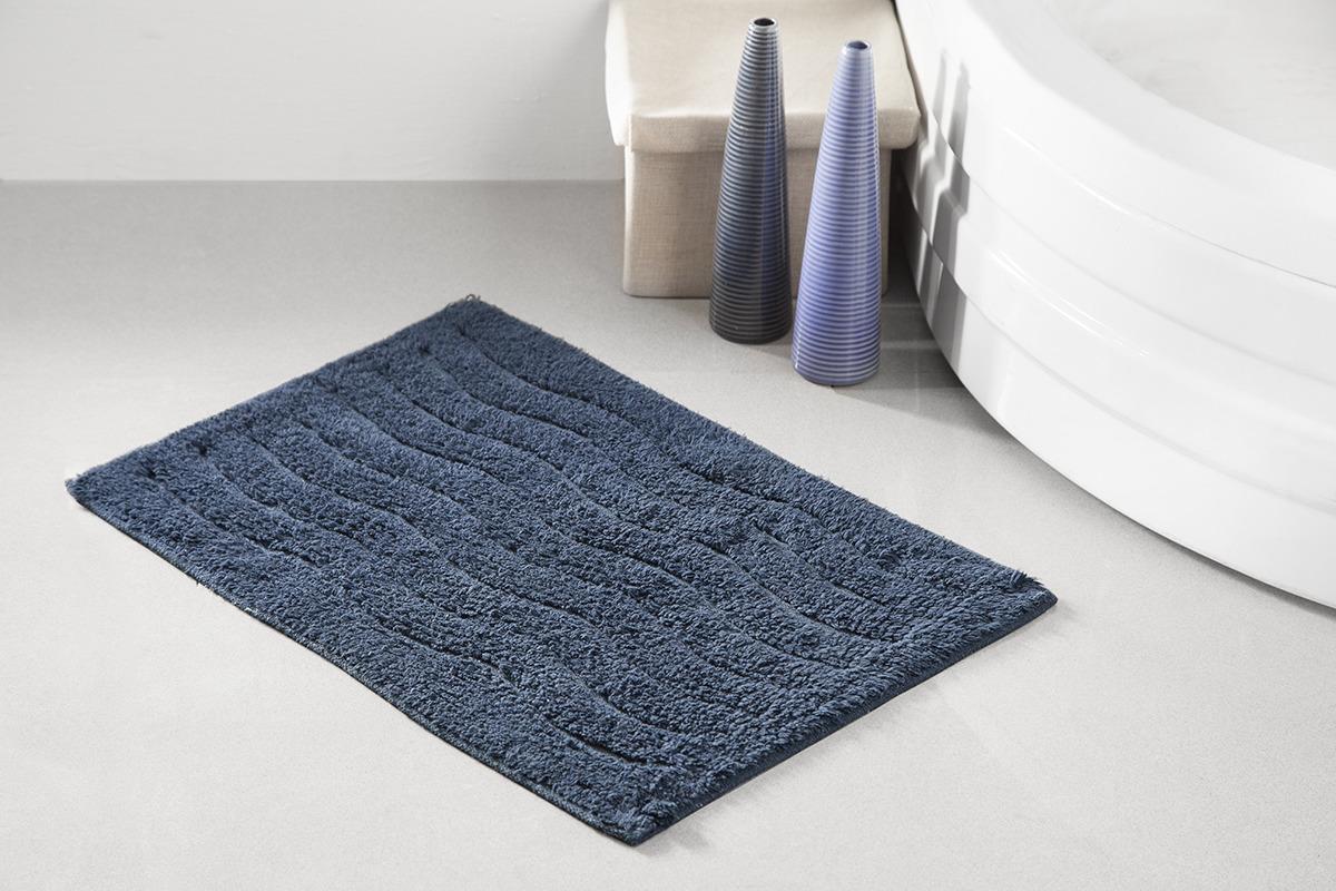 Коврик для ванной Modalin Aren, цвет: синий, 40 x 60 см