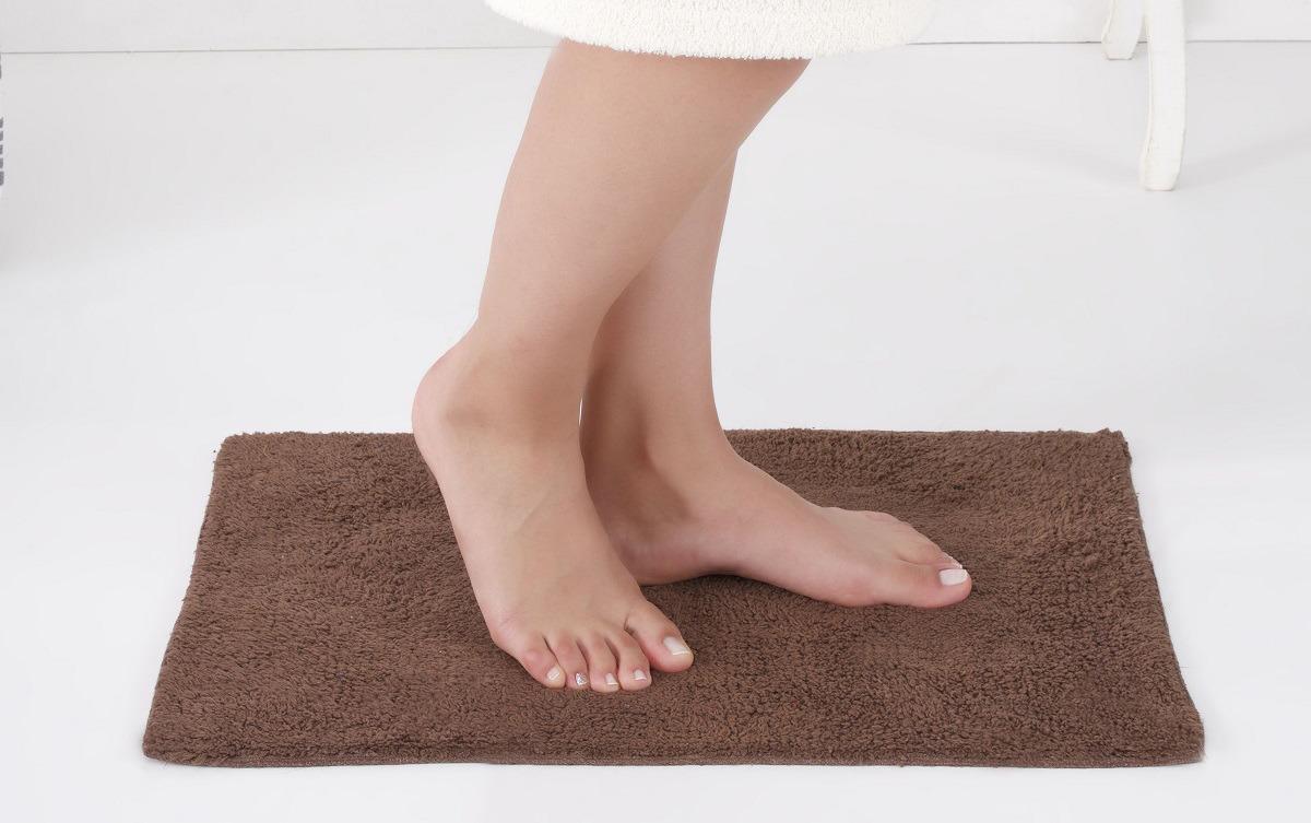 Коврик для ванной Modalin Flet, цвет: коричневый, 40 x 60 см