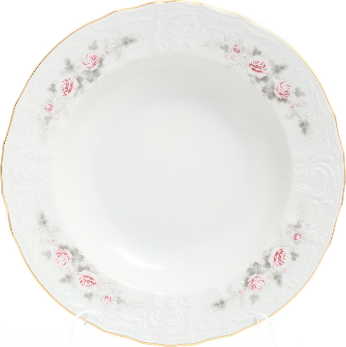 Набор глубоких тарелок Bernadotte Серая роза. Золото, диаметр 23 см, 6 шт набор глубоких тарелок bernadotte серая роза золото диаметр 23 см 6 шт
