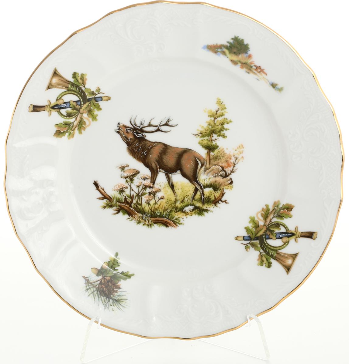 "Набор тарелок Bernadotte ""Охота"", диаметр 19 см, 6 шт"
