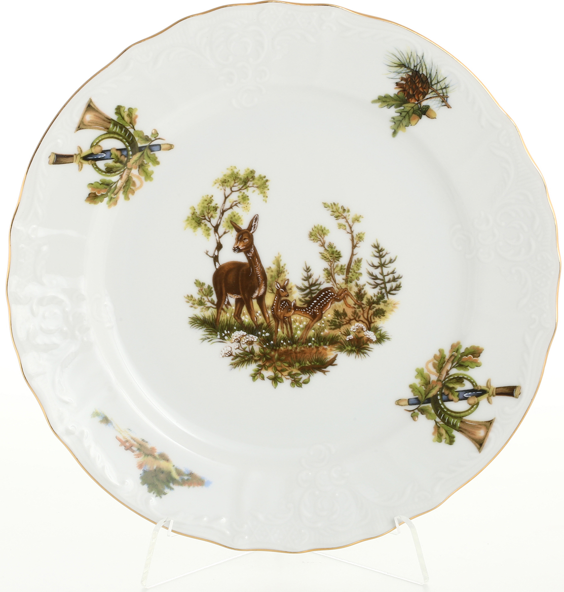Набор тарелок Bernadotte Охота, диаметр 21 см, 6 шт набор из 2 тарелок 21 см infinity