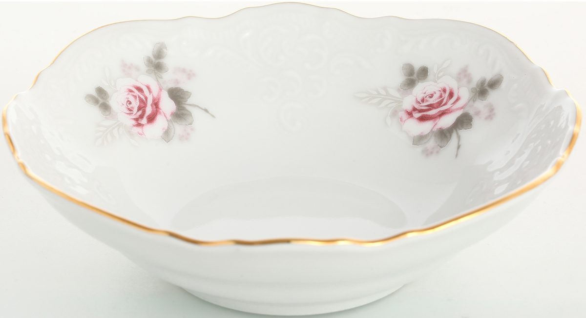 Набор салатников Bernadotte Серая роза. Золото, диаметр 13 см, 6 шт набор глубоких тарелок bernadotte серая роза золото диаметр 23 см 6 шт