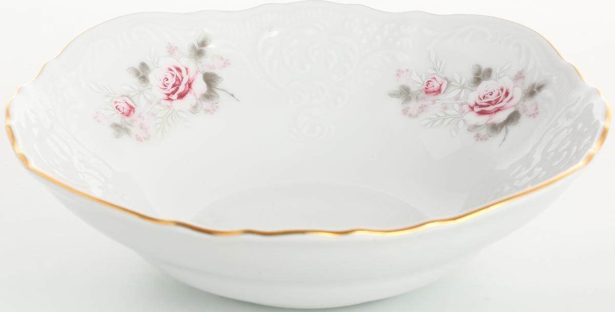 Набор салатников Bernadotte Серая роза. Золото, диаметр 16 см, 6 шт набор салатников esprado saragossa цвет белый коричневый диаметр 16 см 6 шт