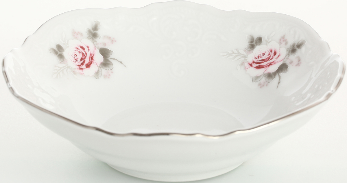 """Набор салатников Bernadotte """"Серая роза. Платина"""", диаметр 13 см, 6 шт"""