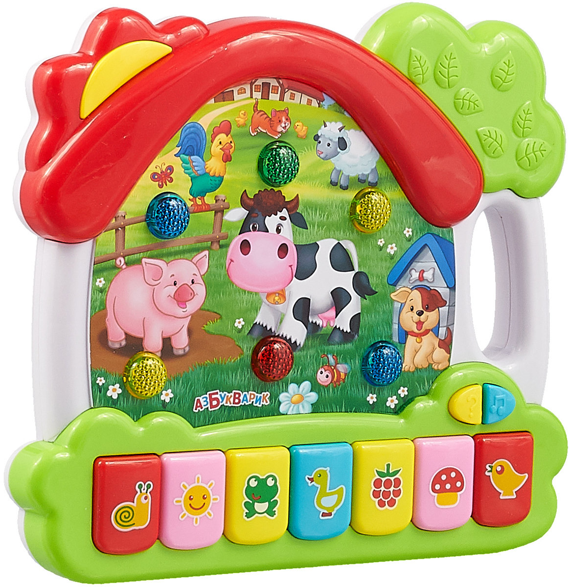 Музыкальная игрушка Азбукварик Музыкальный домик. Ферма игрушка обучающая музыкальная азбукварик ферма музыкальный домик