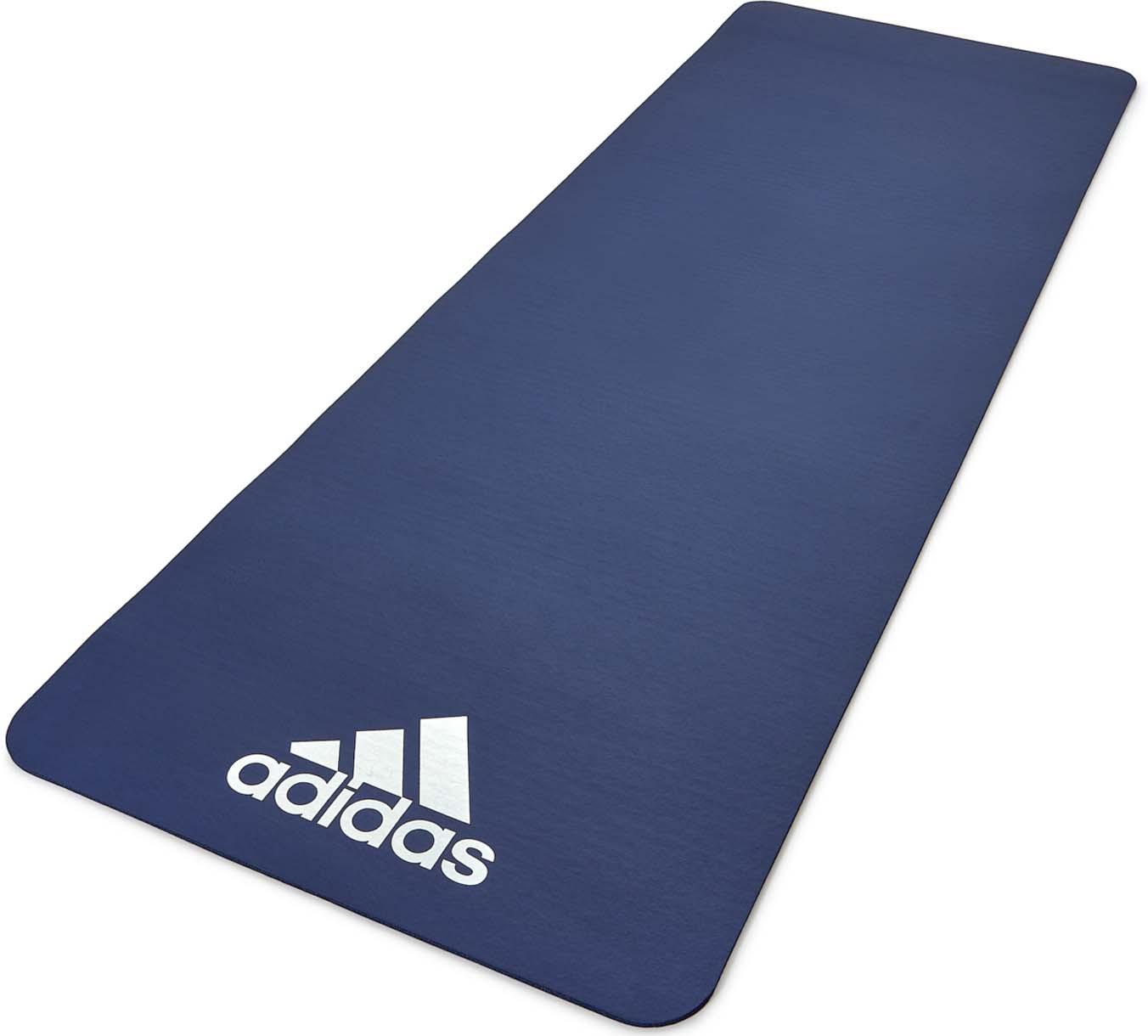 Коврик тренировочный Adidas, цвет: синий, толщина 7 мм, длина 173 см
