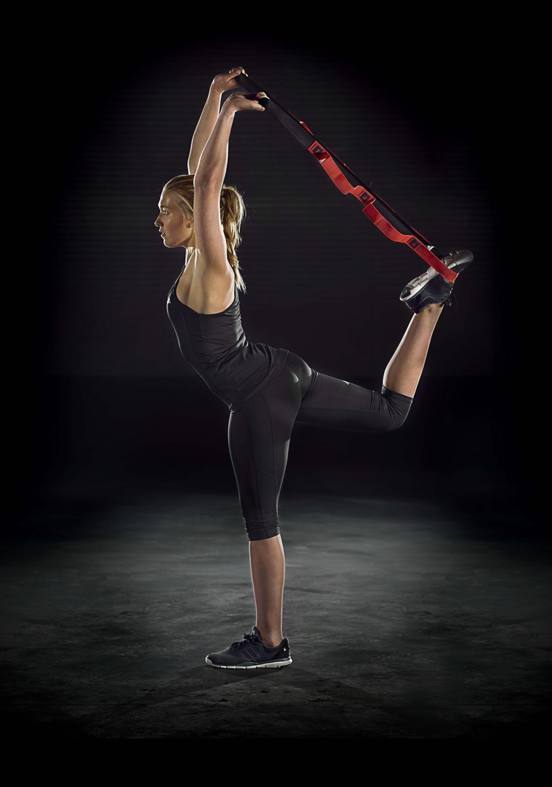 Лента для растяжки Adidas, цвет: черный, длина 180 см adidas