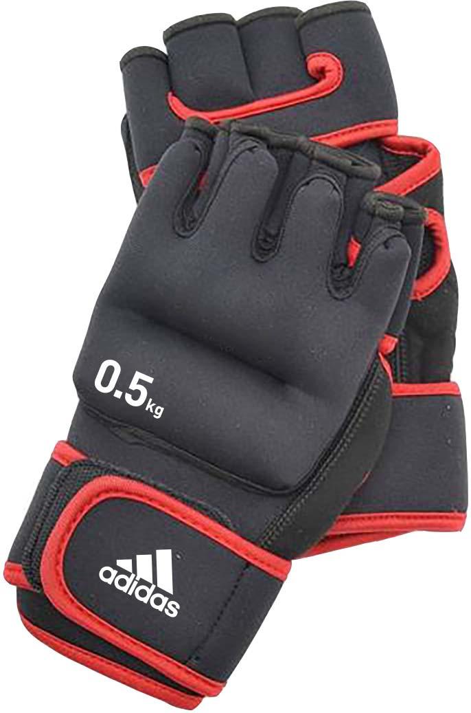 все цены на Перчатки с утяжелителями Adidas, цвет: черный. ADWT-10702 онлайн