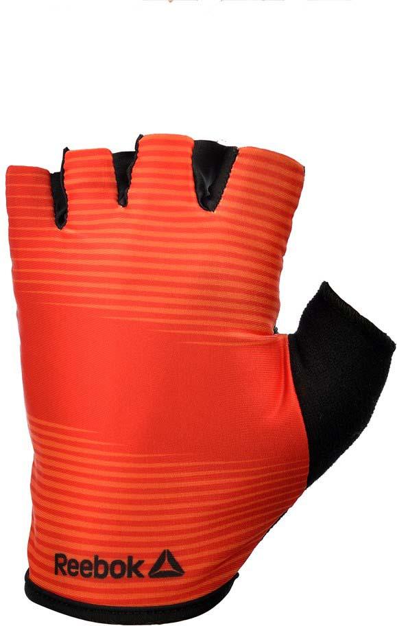 Перчатки для фитнеса Reebok, цвет: красный, черный, размер S