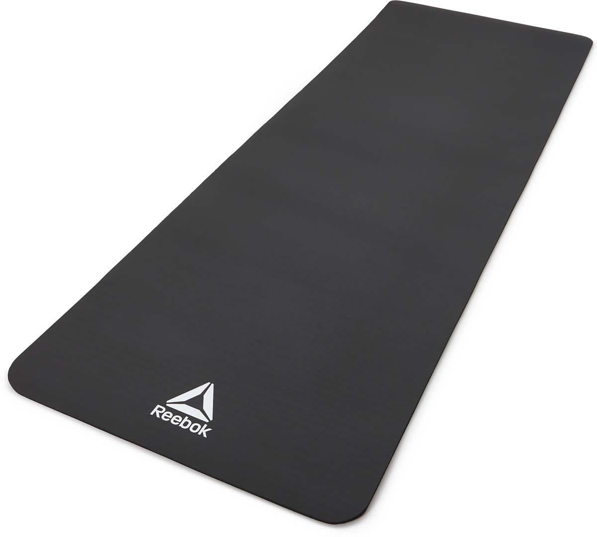 Коврик тренировочный Adidas, цвет: черный, толщина 7 мм, длина 173 см