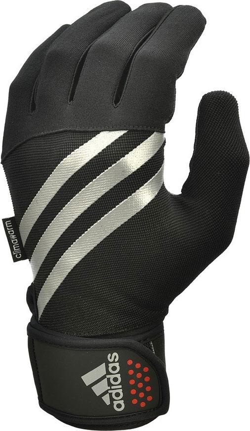 Перчатки тренировочные Adidas, утепленные, цвет: черный, размер M