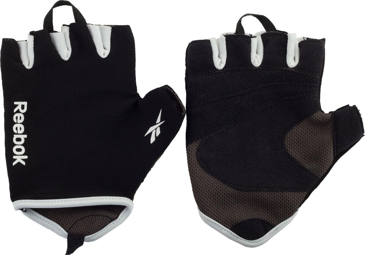 Перчатки для фитнеса Reebok, цвет: серый, размер S/M кроссовки для фитнеса мужские reebok reebok reago essential цвет темно синий cn7217 размер 42 5 9 5
