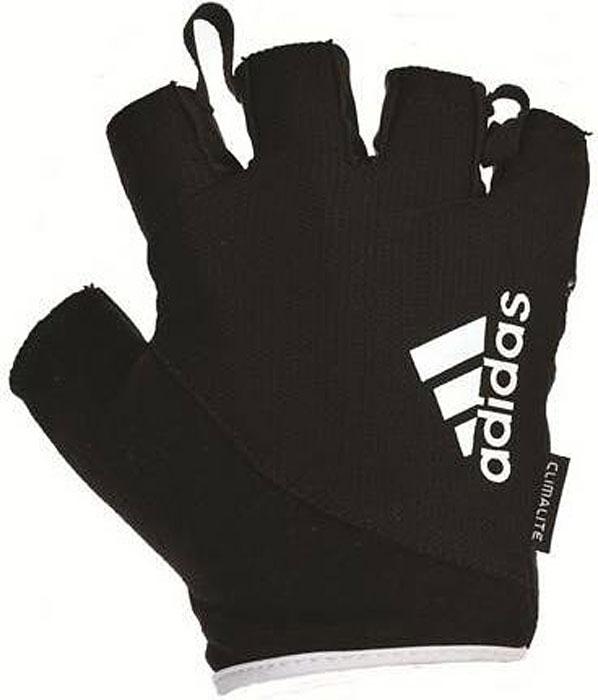 Перчатки для фитнеса Adidas, цвет: черный, белый, размер XL перчатки для фитнеса adidas clite vers glov цвет черный s99622 размер xl 24