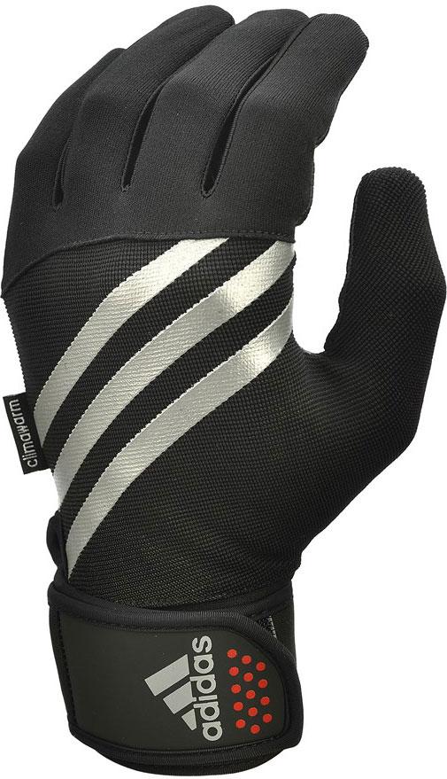 Перчатки тренировочные Adidas, утепленные, цвет: черный, размер XL