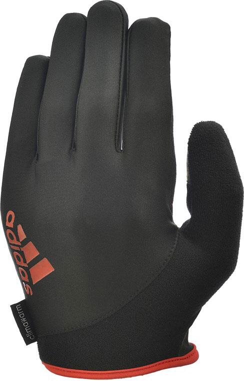 Перчатки для фитнеса Adidas Essential, с пальцами, цвет: черный, красный, размер XL