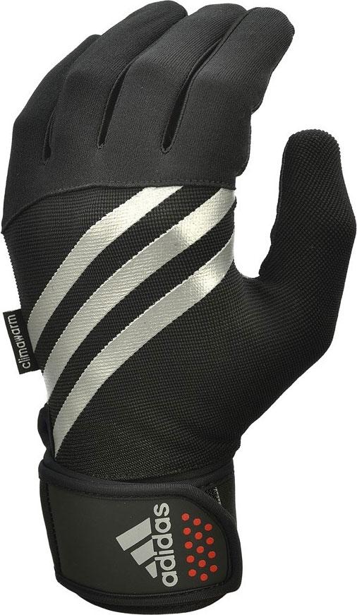Перчатки тренировочные Adidas, утепленные, цвет: черный, размер S
