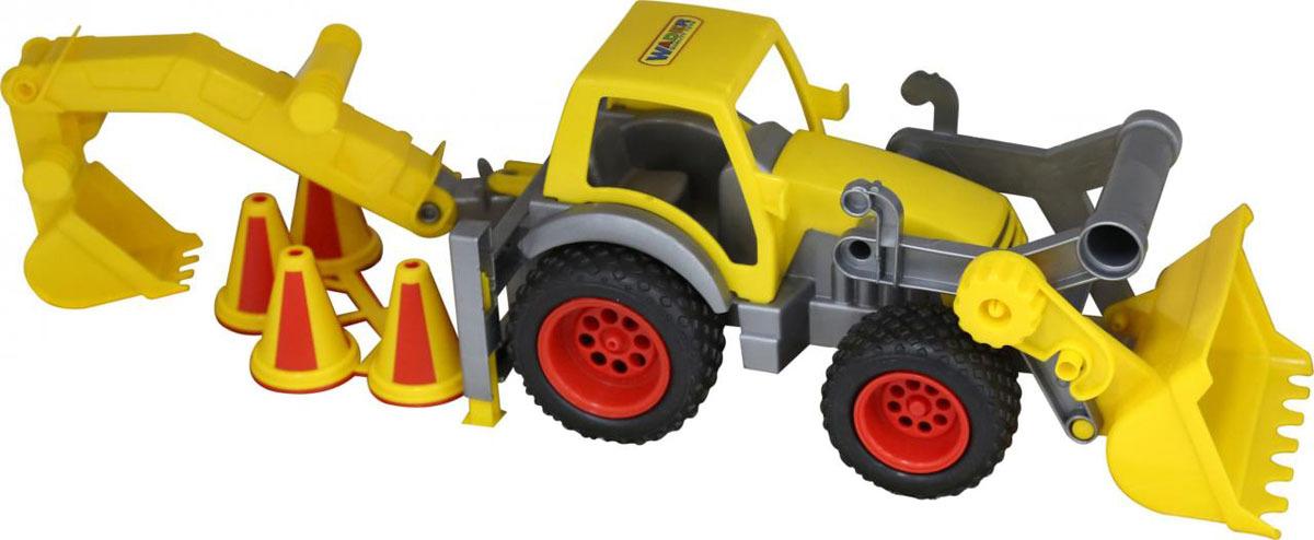 Фото - Трактор с ковшом Полесье КонсТрак, цвет в ассортименте полесье набор игрушек для песочницы 468 цвет в ассортименте