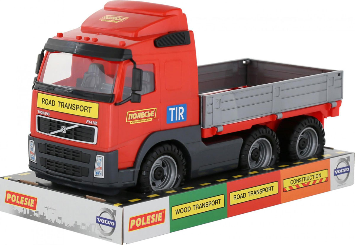 Грузовик Полесье Volvo. 58225, цвет в ассортименте машина игрушечная с аксессуарами полесье volvo дорожный каток