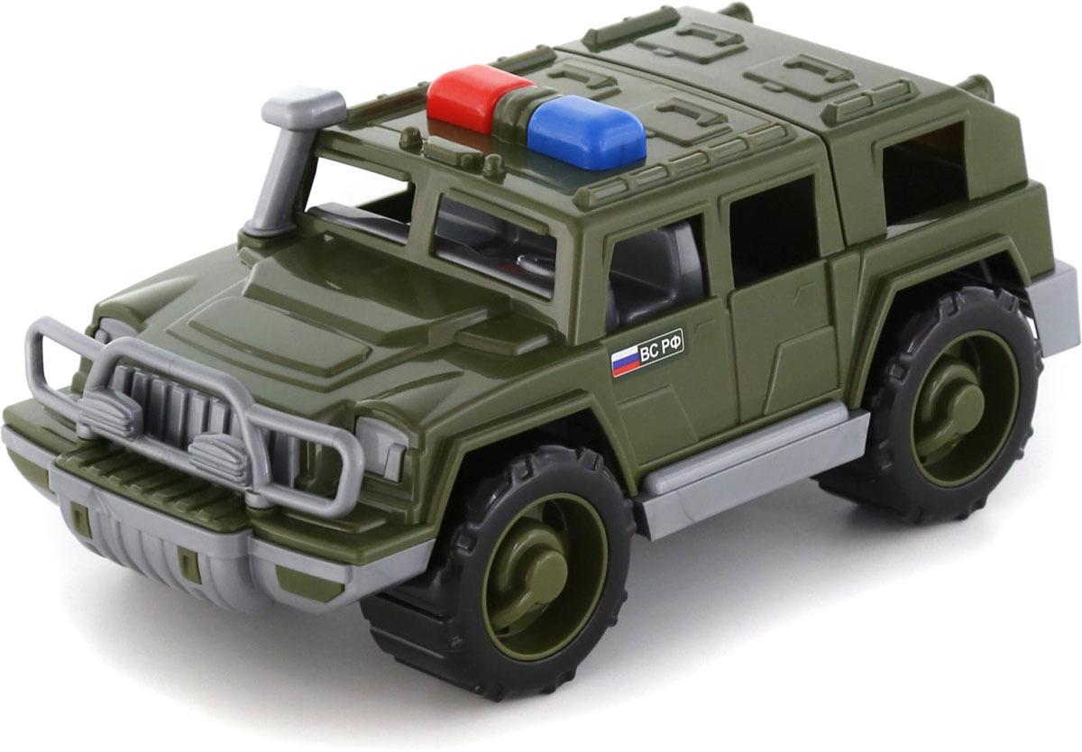 Джип военный патрульный Полесье Защитник, 63663, цвет в ассортименте военный автомобиль на радиоуправлении tongde в72398 пластик от 3 лет зелёный