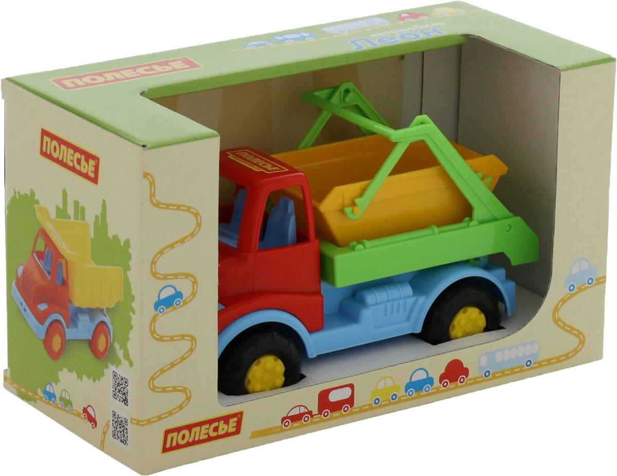 Коммунальная спецмашина Полесье Леон автомобиль коммунальная спецмашина полесье кнопик красная кабина