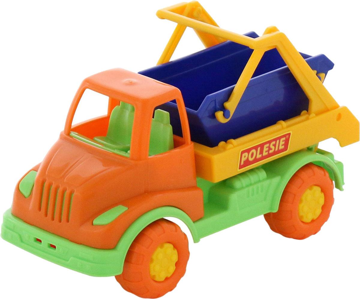 Коммунальная спецмашина Полесье Кнопик автомобиль коммунальная спецмашина полесье кнопик красная кабина