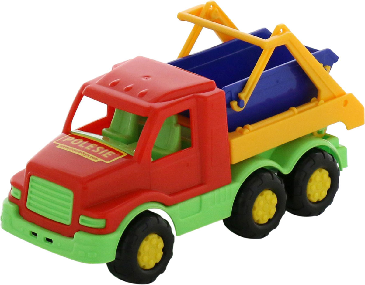 Фото - Коммунальная спецмашина Полесье Максик, цвет в ассортименте полесье набор игрушек для песочницы 468 цвет в ассортименте