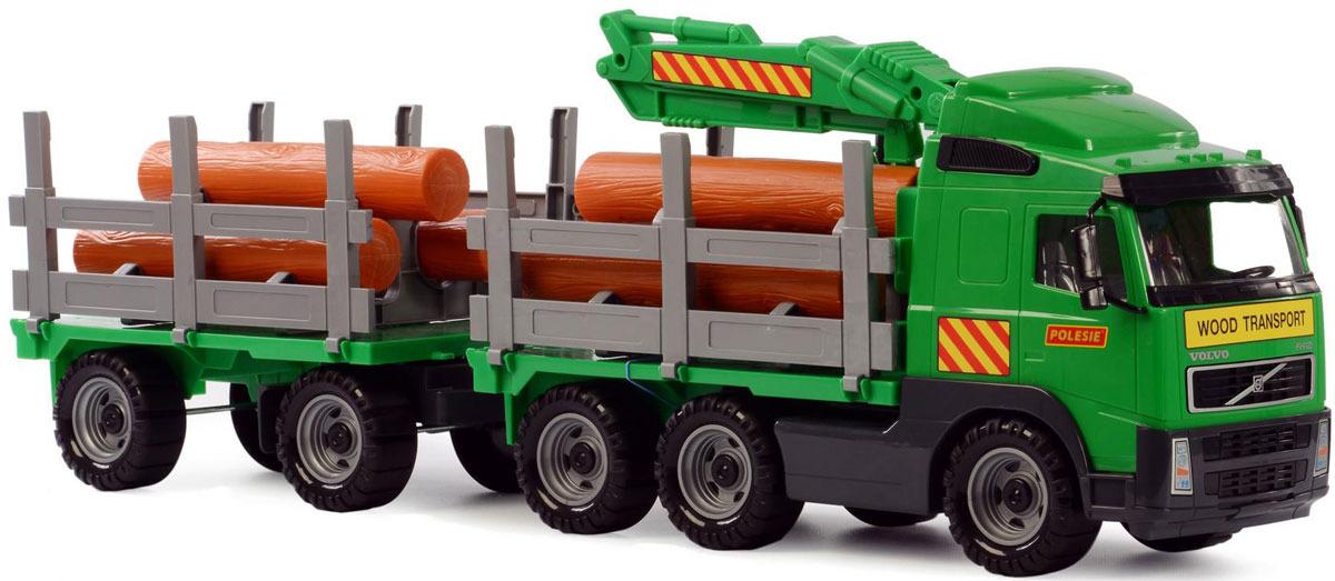 Лесовоз с прицепом Полесье Volvo, цвет в ассортименте лесовоз с прицепом полесье volvo