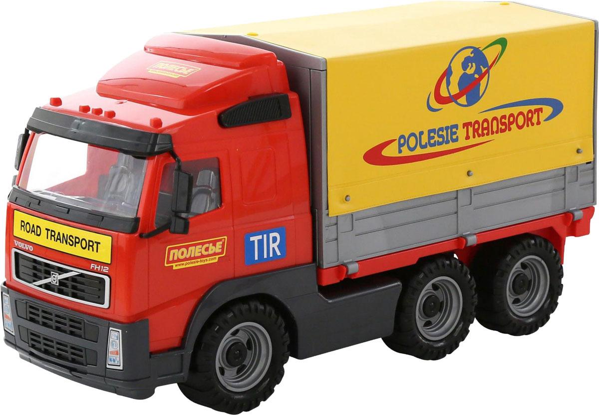Грузовик тентовый Полесье Volvo, цвет в ассортименте машина игрушечная с аксессуарами полесье volvo дорожный каток