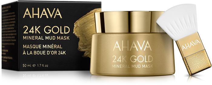 Маска косметическая Ahava Mineral Mud Masks, с золотом 24к, 50 мл