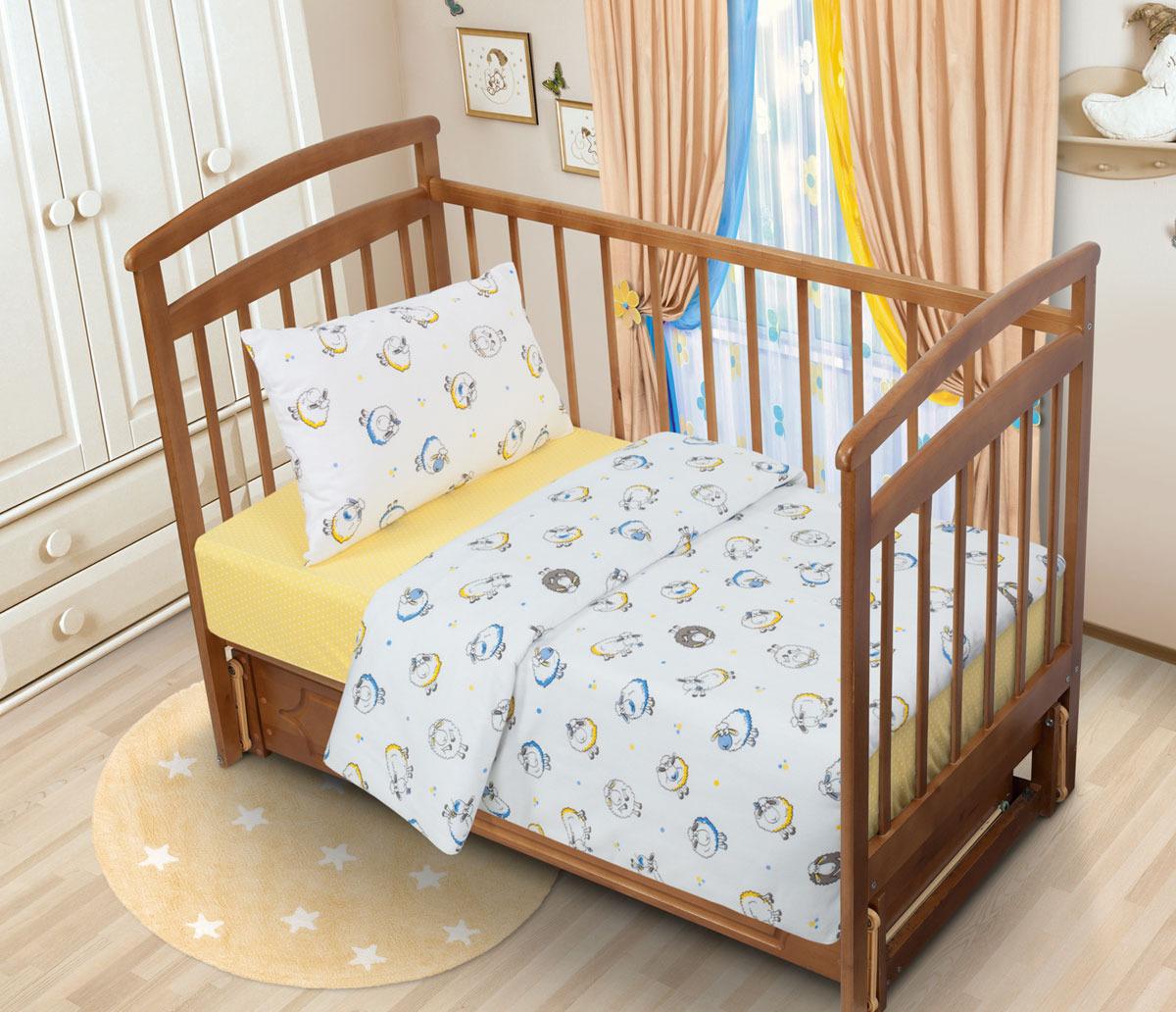 все цены на Детский комплект постельного белья Tatkraft Овечка Ламми, фланель, цвет: разноцветный. 17733 онлайн