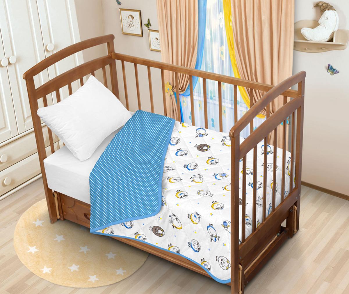 """Одеяло детское Tatkraft """"Овечка Ламми"""", цвет: голубой, 110 х 140 см"""