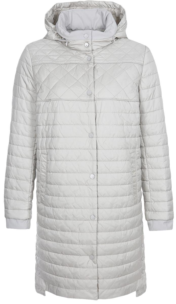 Куртка женская Elfina, цвет: жемчужный. 18-308_44203. Размер 5218-308_44203