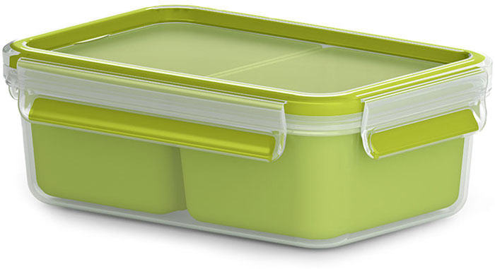 Контейнер для перекусов Emsa Clip&Go, 1 л контейнер для торта emsa superline с охлаждающим элементом цвет голубой 2 л
