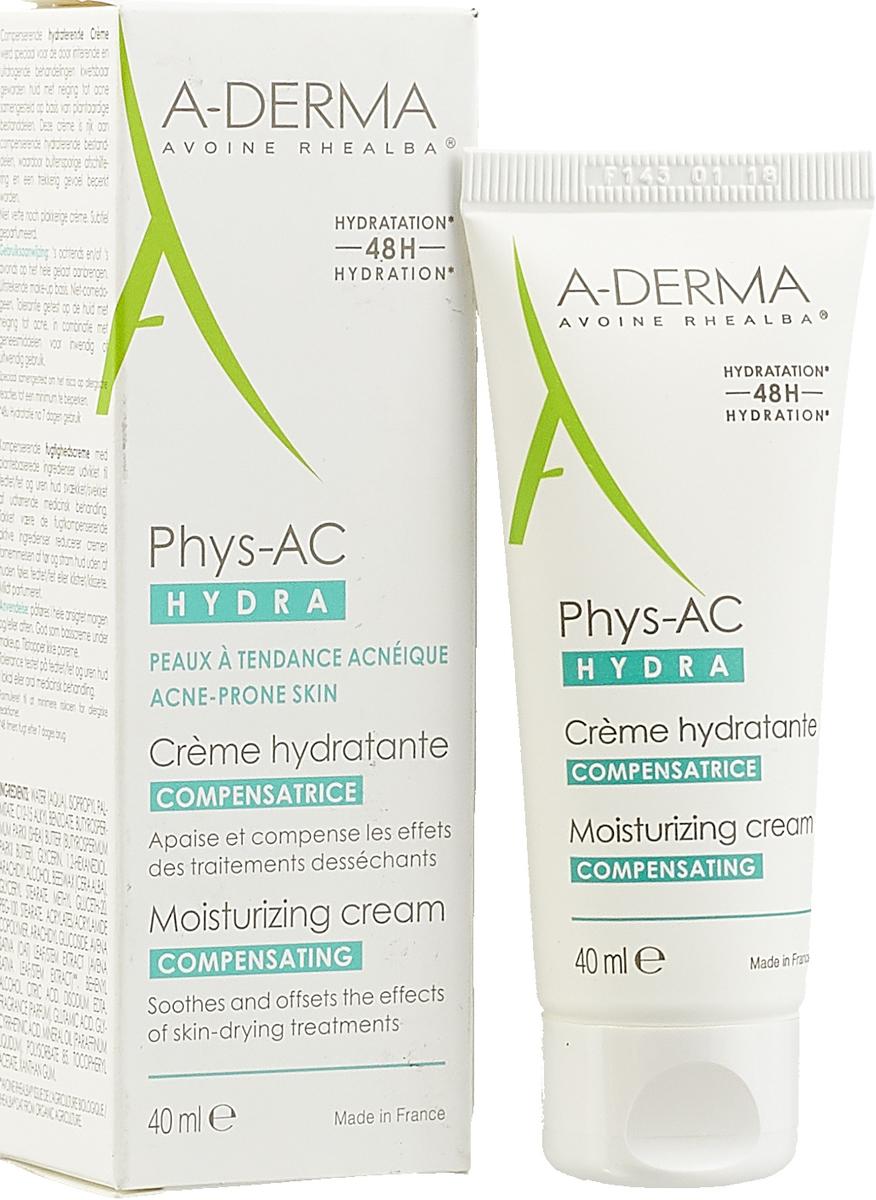 Крем для лица A-Derma Phys-AC Hydra, восстанавливающий, 40 мл
