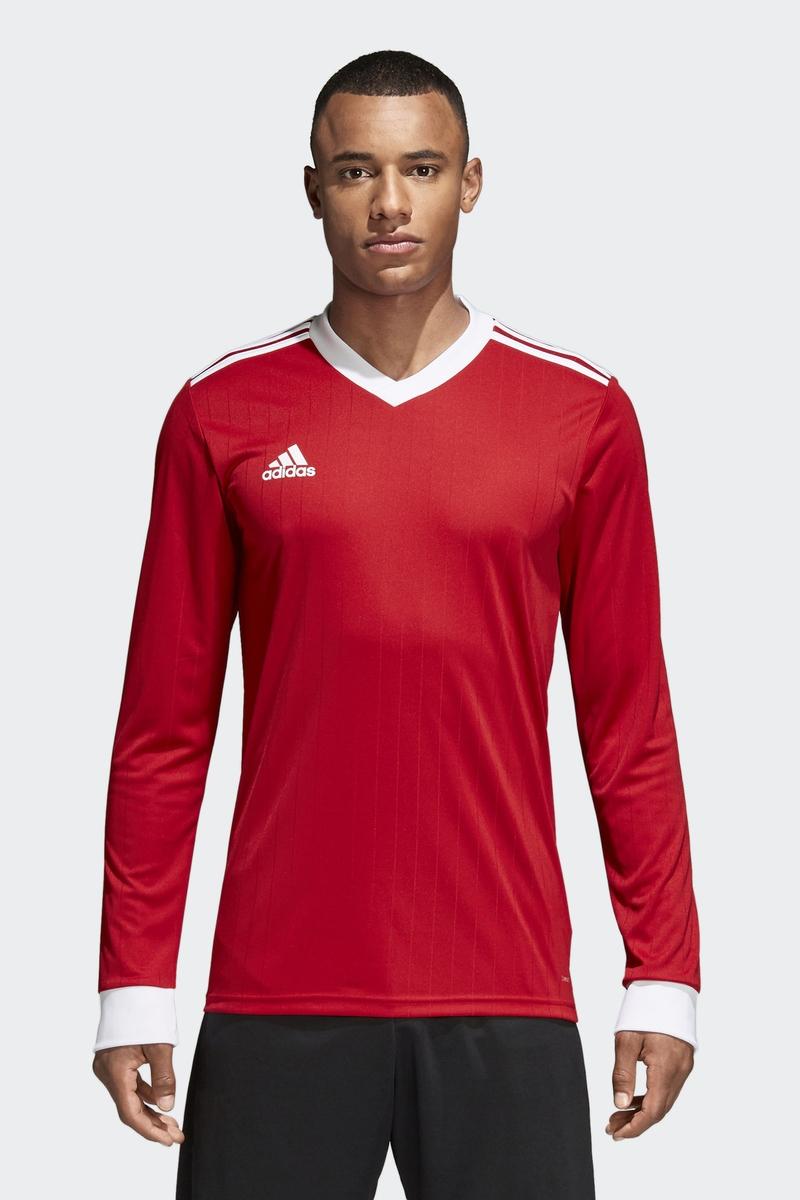 Лонгслив мужской Adidas Tabela 18 Jsy L, цвет: красный. CZ5456. Размер XL (56/58)CZ5456