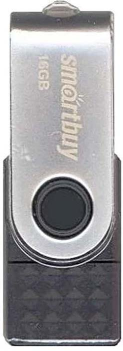 USB флеш-накопитель Smartbuy Trio 16GB 3-in-1 OTG, Black usb флеш накопитель smartbuy trio 64gb 3 in 1 otg black