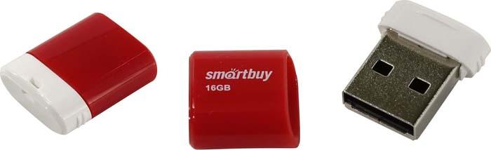 цена USB флеш-накопитель Smartbuy Lara 16GB, Red онлайн в 2017 году