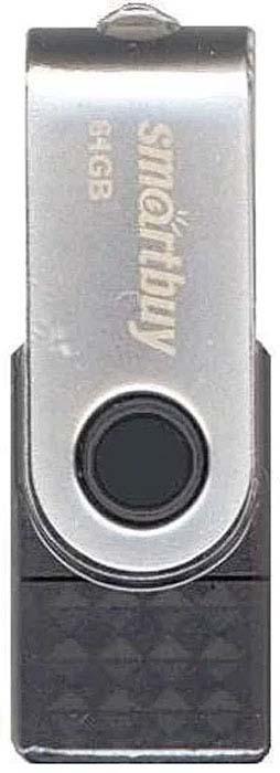 USB флеш-накопитель Smartbuy Trio 64GB 3-in-1 OTG, Black usb флеш накопитель smartbuy trio 64gb 3 in 1 otg black