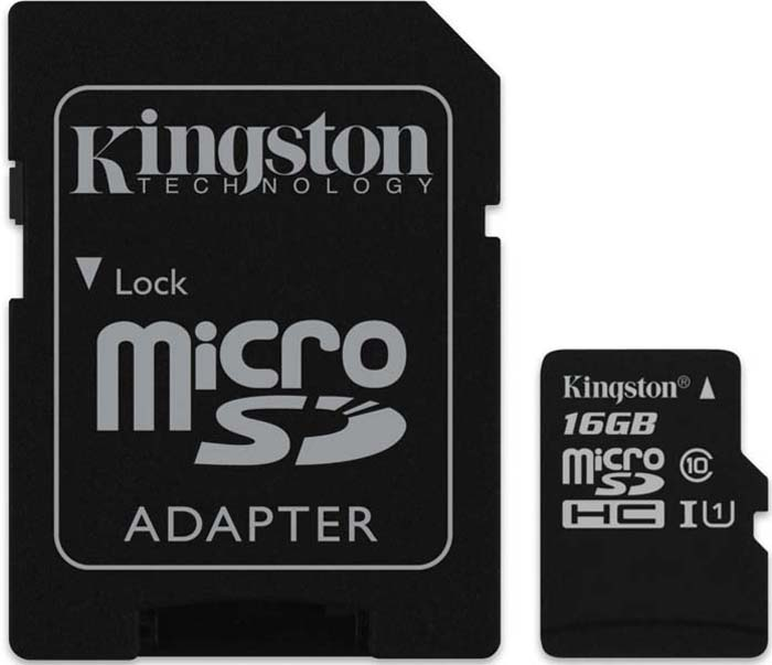 Карта памяти Kingston micro SDHC Class10 UHS-I Industrial 16GB, с адаптером цена
