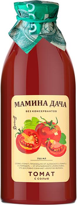 Сок Томатный с мякотью и солью Мамина дача, 0,75л цена
