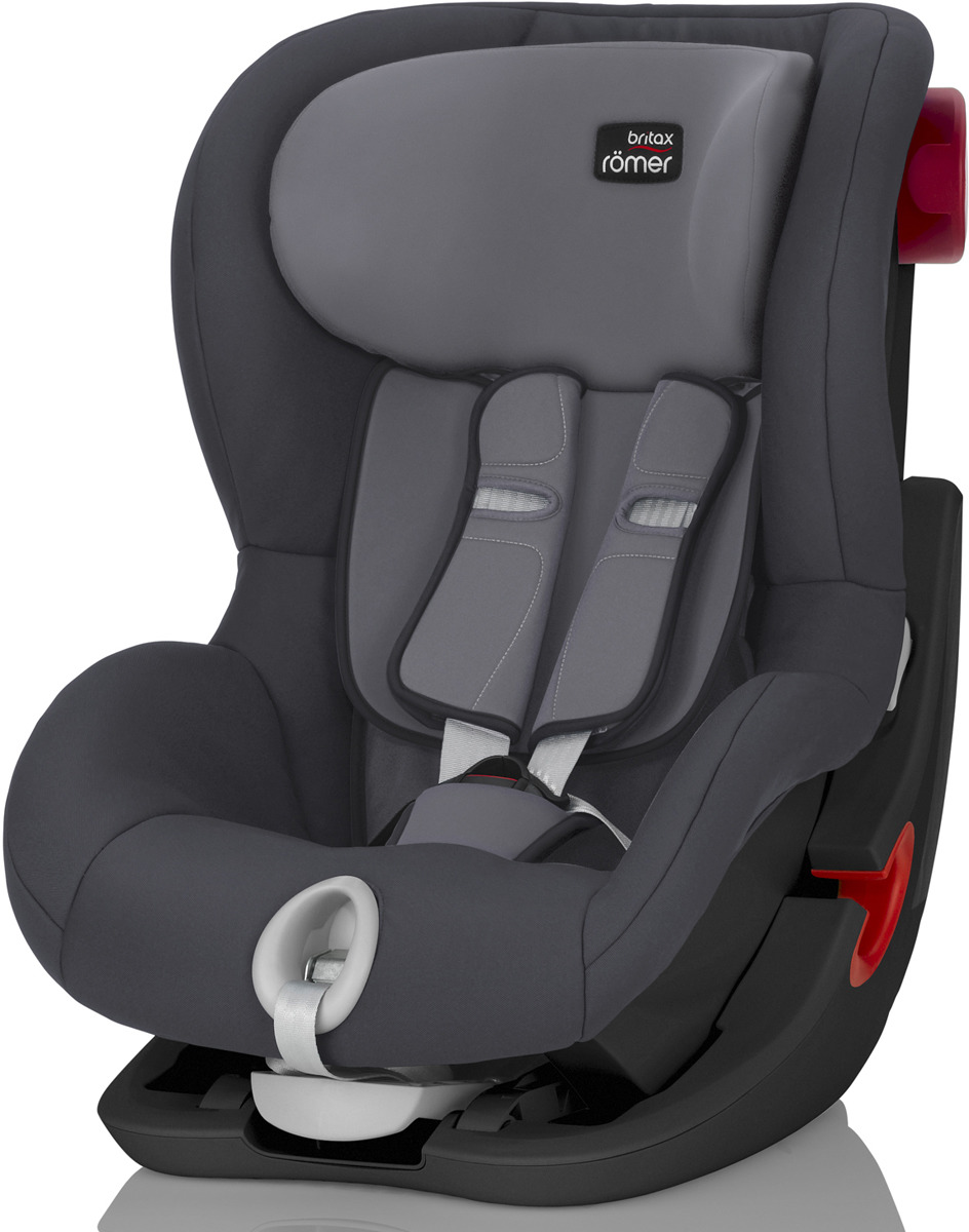 Автокресло детское Britax Roemer King II Black Series Storm Grey Trendline от 9 до 18 кг, 2000027559, серый britax römer автокресло britax romer versafix 9 18 кг steel grey