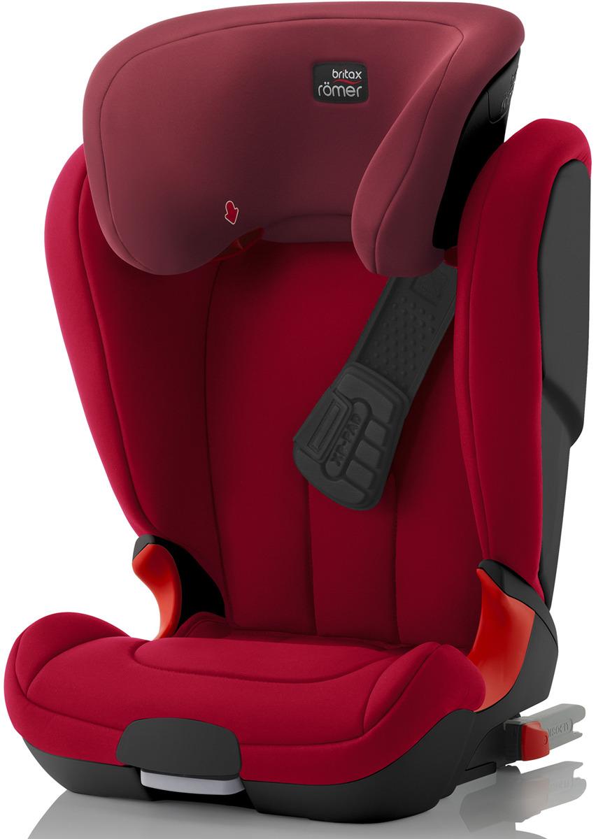Автокресло детское Britax Roemer Kidfix XP Black Series Flame Red Trendline от 15 до 36 кг, 2000027590, красный britax roemer kidfix xp mineral purple trendline