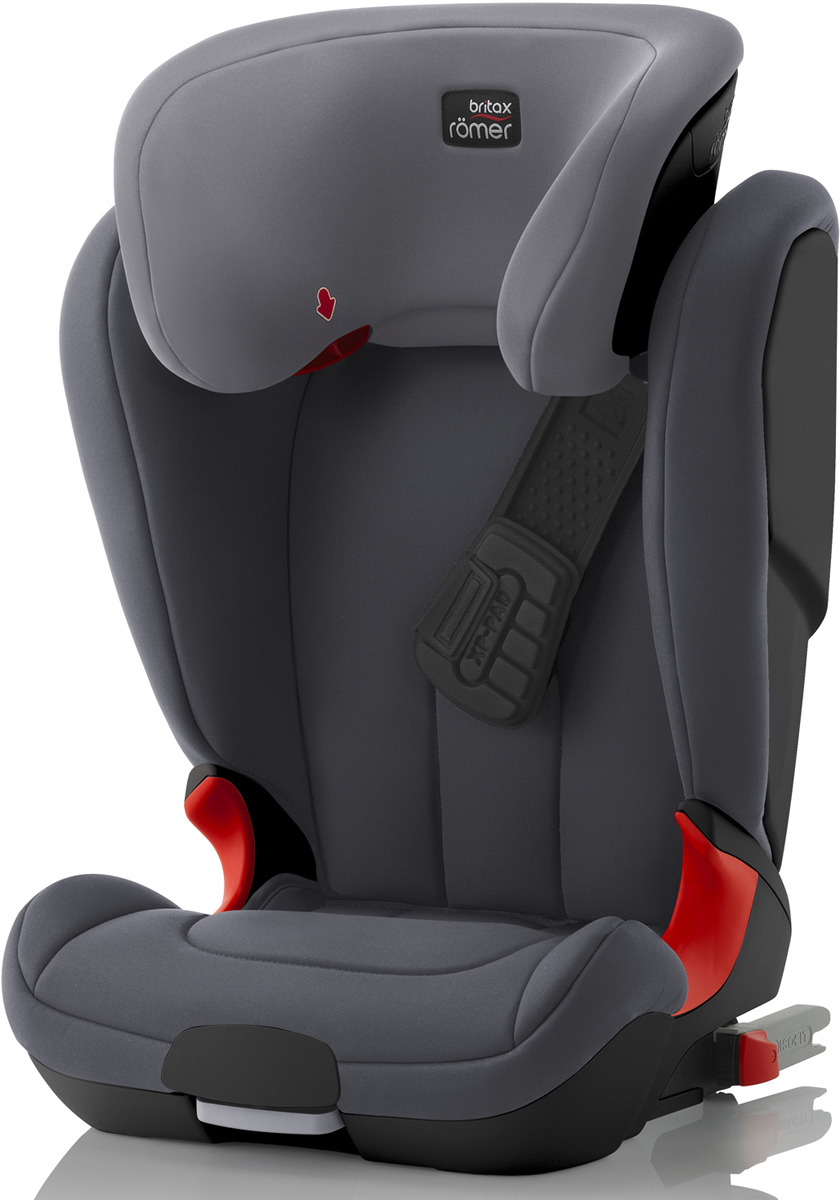 Автокресло детское Britax Roemer Kidfix XP Black Series Storm Grey Trendline, от 15 до 36 кг автокресло детское britax roemer kidfix xp sict black series blue marble highline от 15 до 36 кг