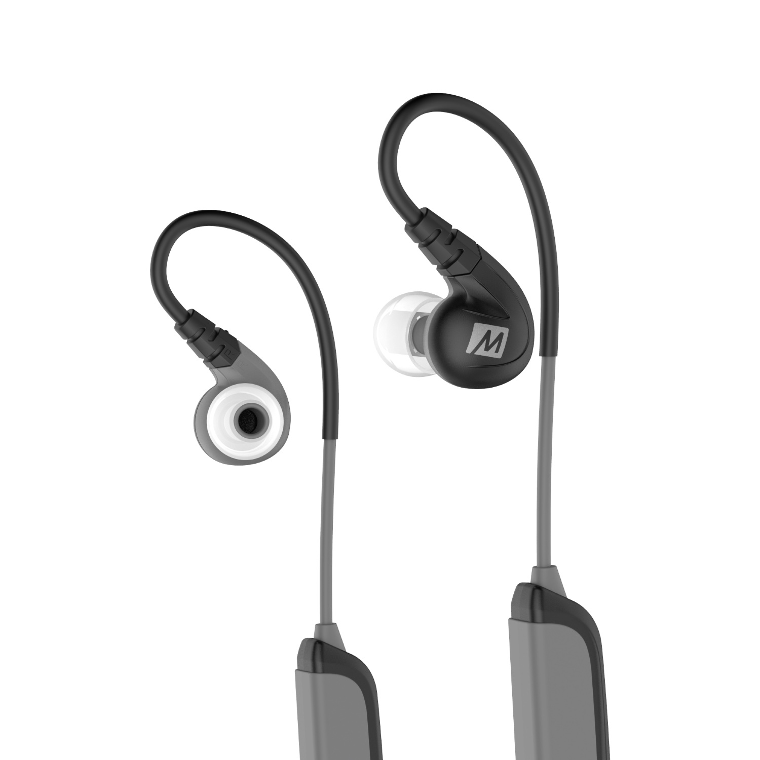Беспроводные наушники MEE Audiо X8, серый, черный беспроводные наушники mee audiо n1 черный